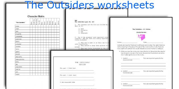 English Teaching Worksheets  The Outsiders