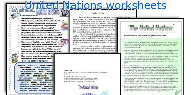 English Teaching Worksheets  United Nations