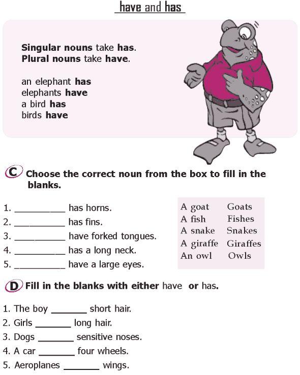 English Worksheets For Grade 1 Nouns  Pronoun Worksheets Have Fun