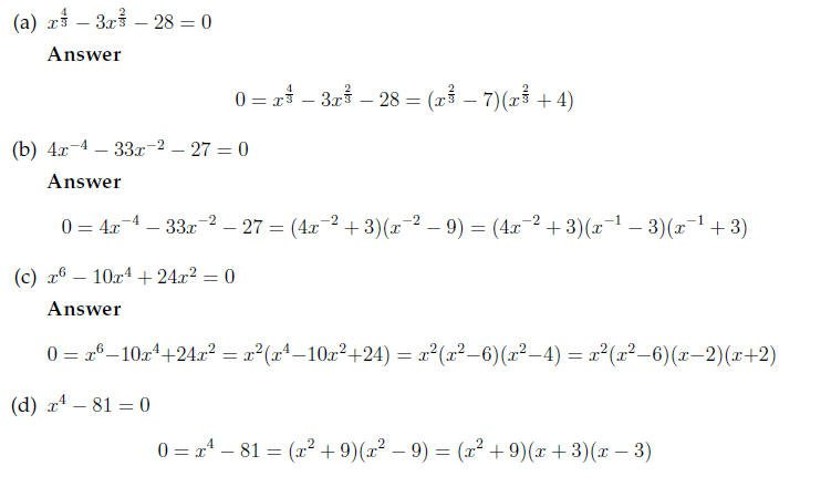 Factoring Quadratic Expressions Worksheet Answers Equations