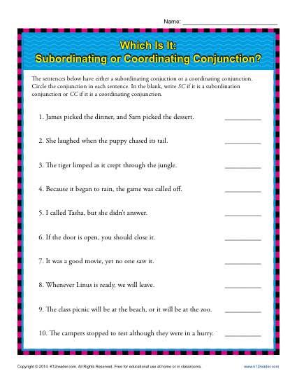 Fanboys Conjunctions Worksheet Worksheets For All