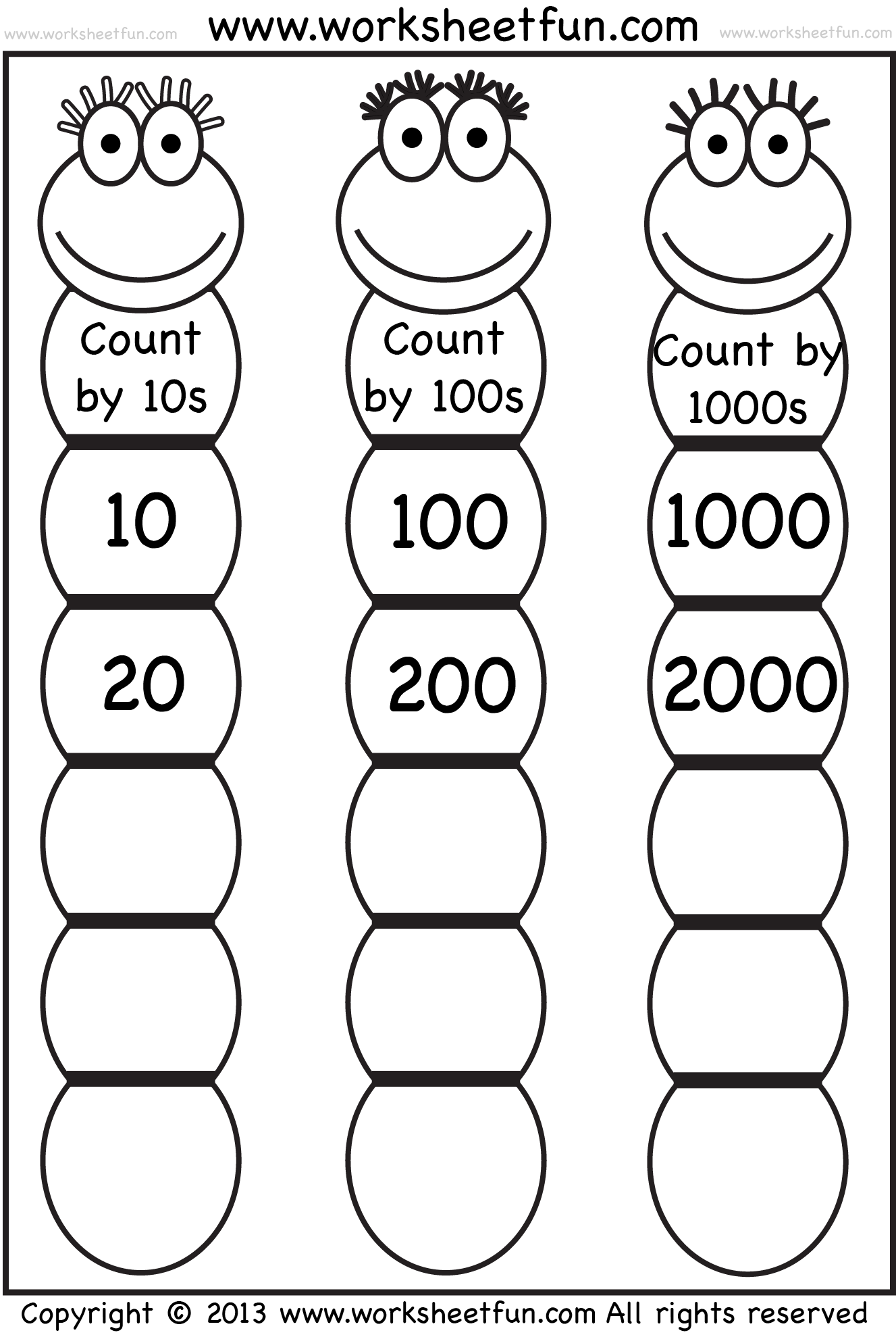 Fill In Multiplication Worksheets Rd Quick Multiplying By 10 And