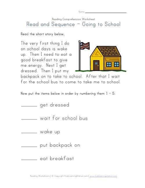 First Grade Sequencing Worksheets Worksheets For All