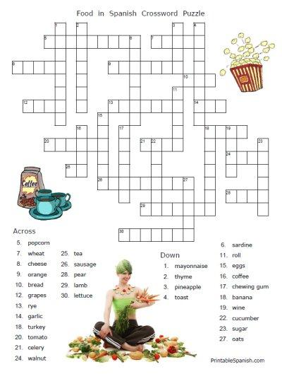 Food Puzzles – Printable Spanish