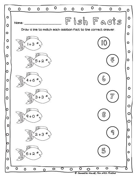 Free Addition Math Station Worksheet & Noise Level Management