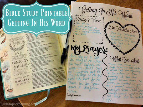 Free Bible Study Printable For Adults And Kids