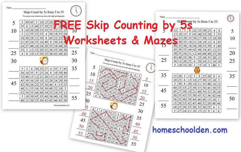Free Clock Printable – Free Skip Counting By 5s Activities
