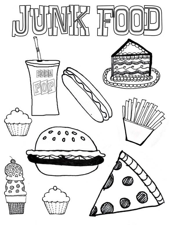 Free Coloring Pages Of Nutritious Food For