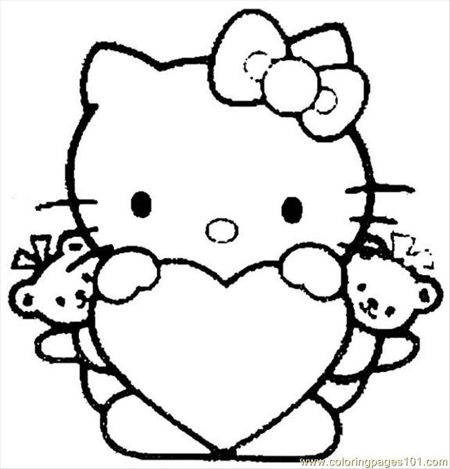 Free Coloring Pages To Print Hello Kitty Coloring Pages