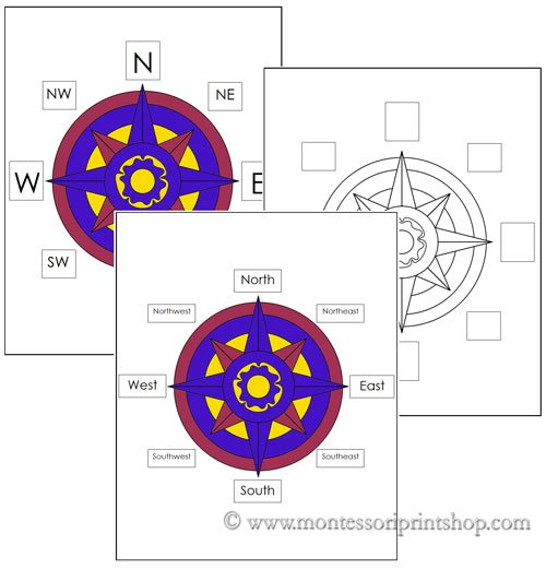 Free Compass Rose Worksheets Control Charts