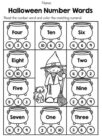 Free Halloween Printables For Kindergarten Coloring Pages