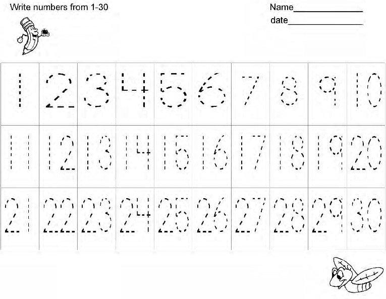Free Number Writing Practice Worksheetshandwriting