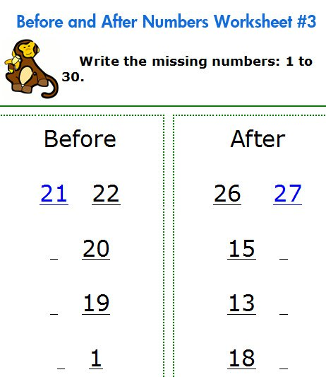 Free Printable Math Worksheets For Kindergarten And Elementary