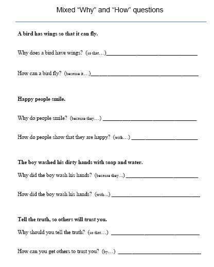 Free Printable Wh Questions Worksheets Worksheets For All