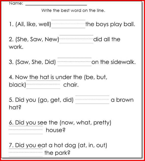 Free Reading Worksheets For 1st Grade Free Worksheets Library
