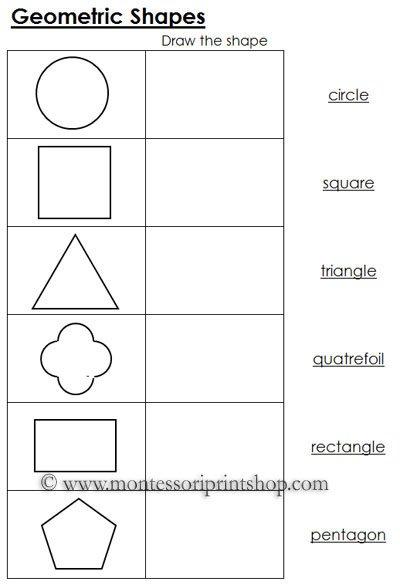 Geometry Shape Worksheets Worksheets For All