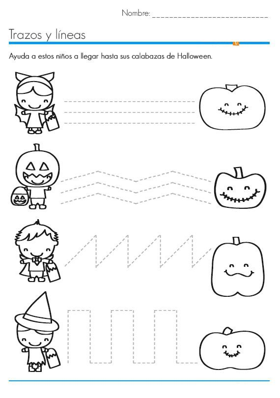 Halloween Worksheets For Preschool Worksheets For All