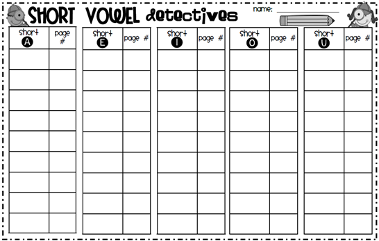 Have Your Students Be Short Vowel Detectives  Student Have To Find