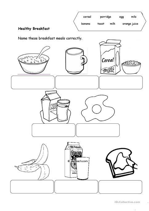 Healthy Food Worksheet