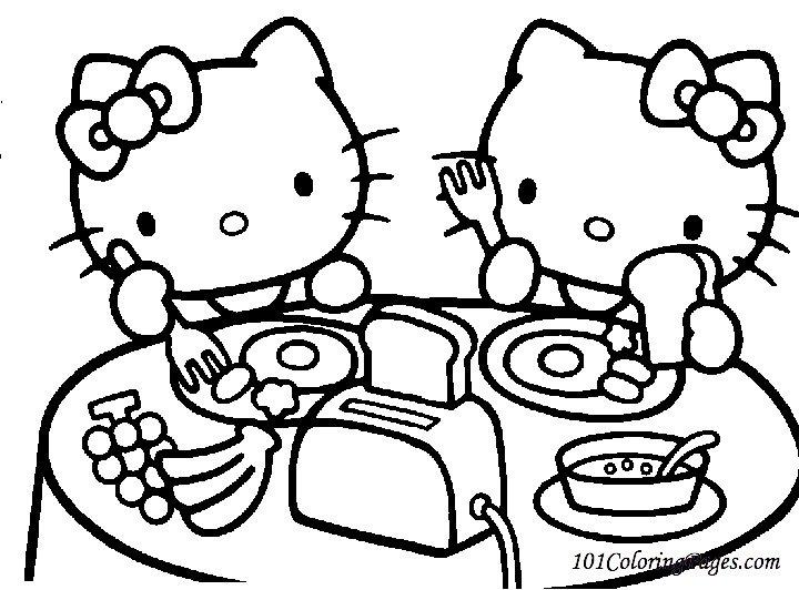 Hello Kitty Coloring Page Colorindodesenhos Bebo Pandco Coloring