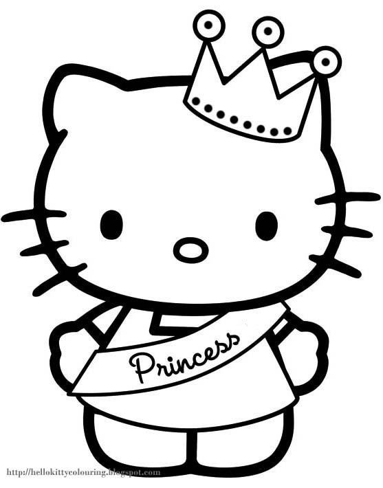 Hello+kitty+coloring+sheets Jpg 557×710 Pixels