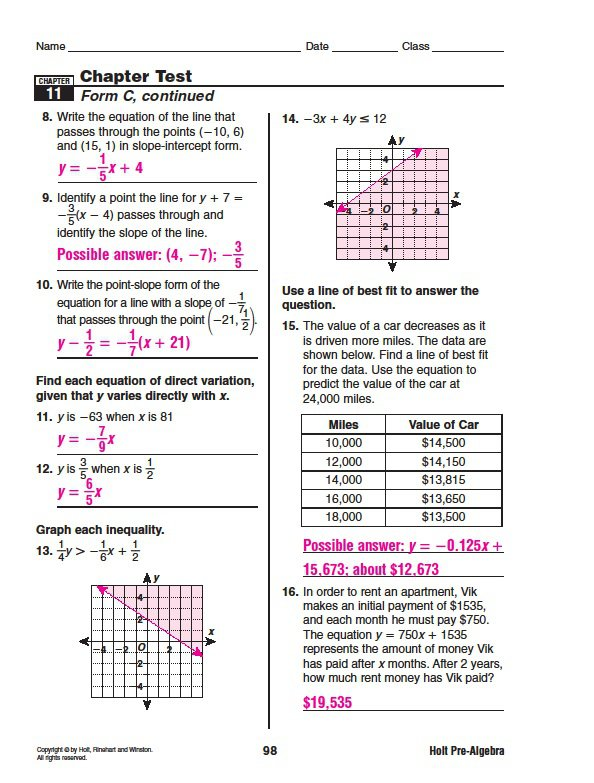Holt Mcdougal Algebra 2 Worksheet Answers Free Worksheets Library