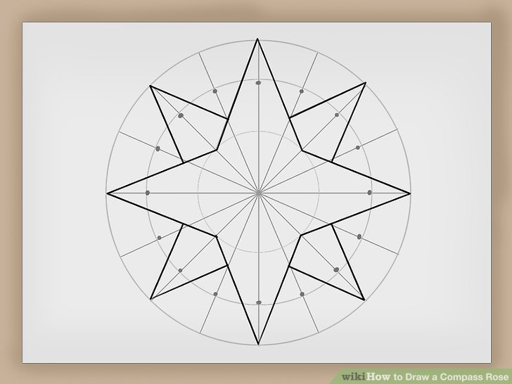 How To Draw A Compass Rose  12 Steps (with Pictures)