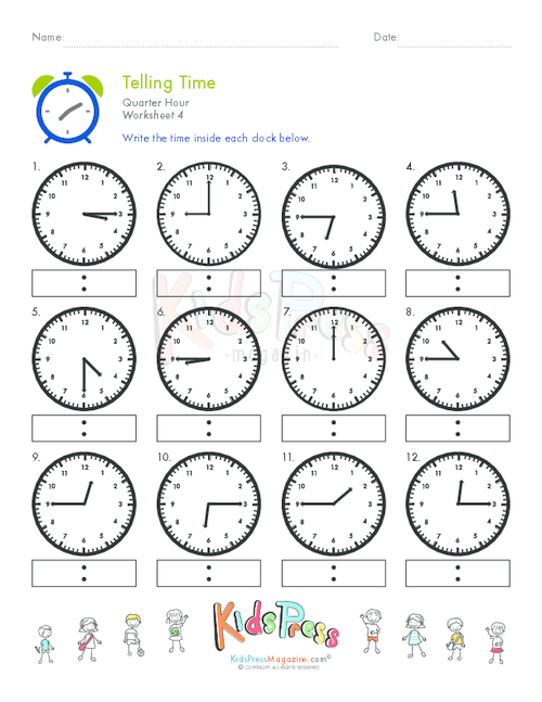 How To Learn What's The Time   Start With Telling Time Quarter