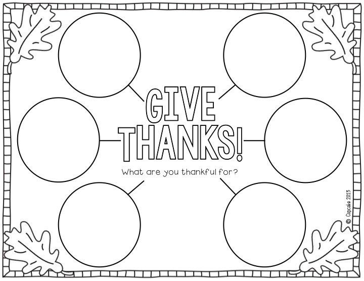 I Am Thankful For Worksheet Thanksgiving Worksheets For All