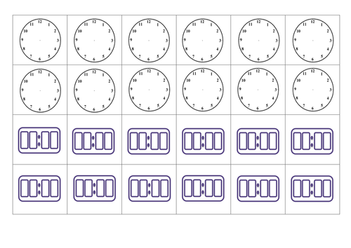 Ideas Collection Blank Digital Clock Worksheets In Summary