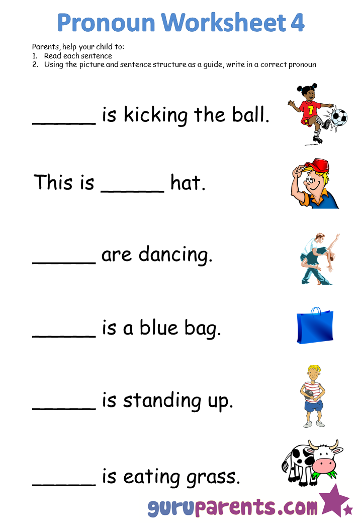 Ideas Of Free Worksheets Pronouns With Description
