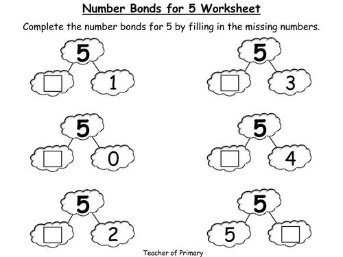 Image Result For Addition Facts For Number 5 Worksheet
