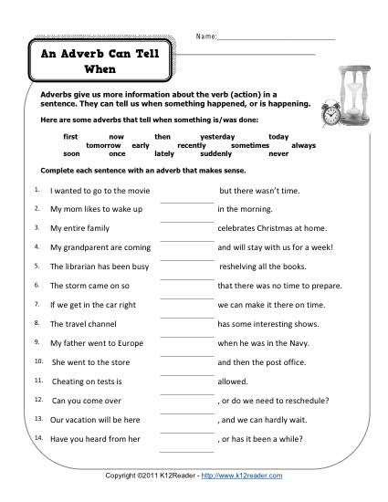 Image Result For Exercises For Adverbs Grammar Topic