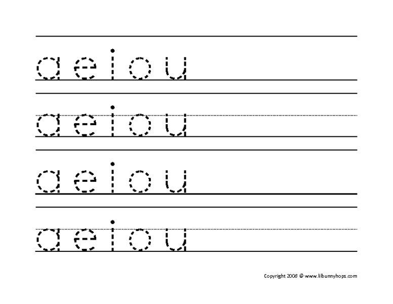 Image Result For Vowel A To Trace Worksheet