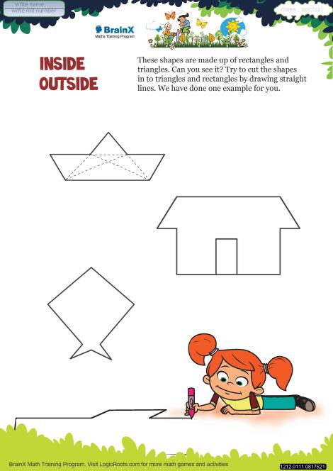 Inside Outside Math Worksheet For Grade 1