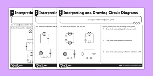 Interpreting And Drawing Circuit Symbols Worksheet   Activity