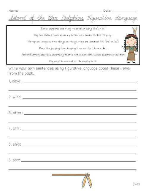 Island Of The Blue Dolphin Worksheets Free Worksheets Samples