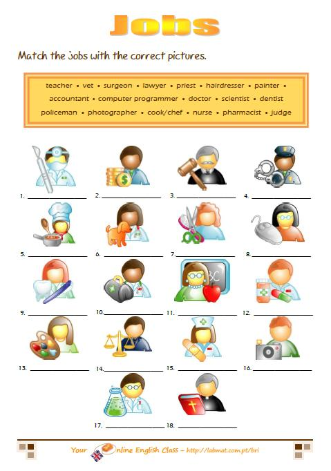 Jobs Worksheets Free Worksheets Library