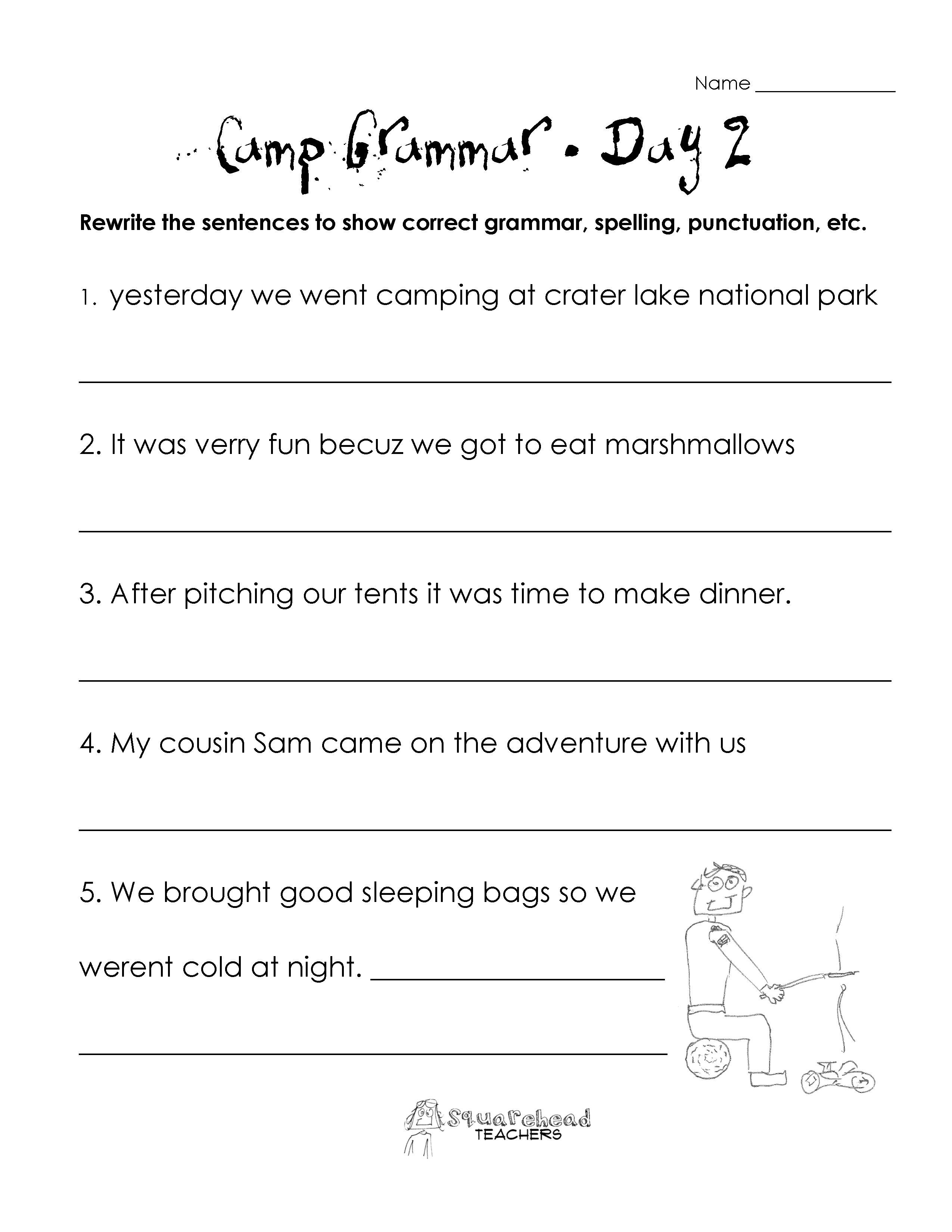Kids  Teaching Punctuation Worksheets  Printable Grammar Worksheet