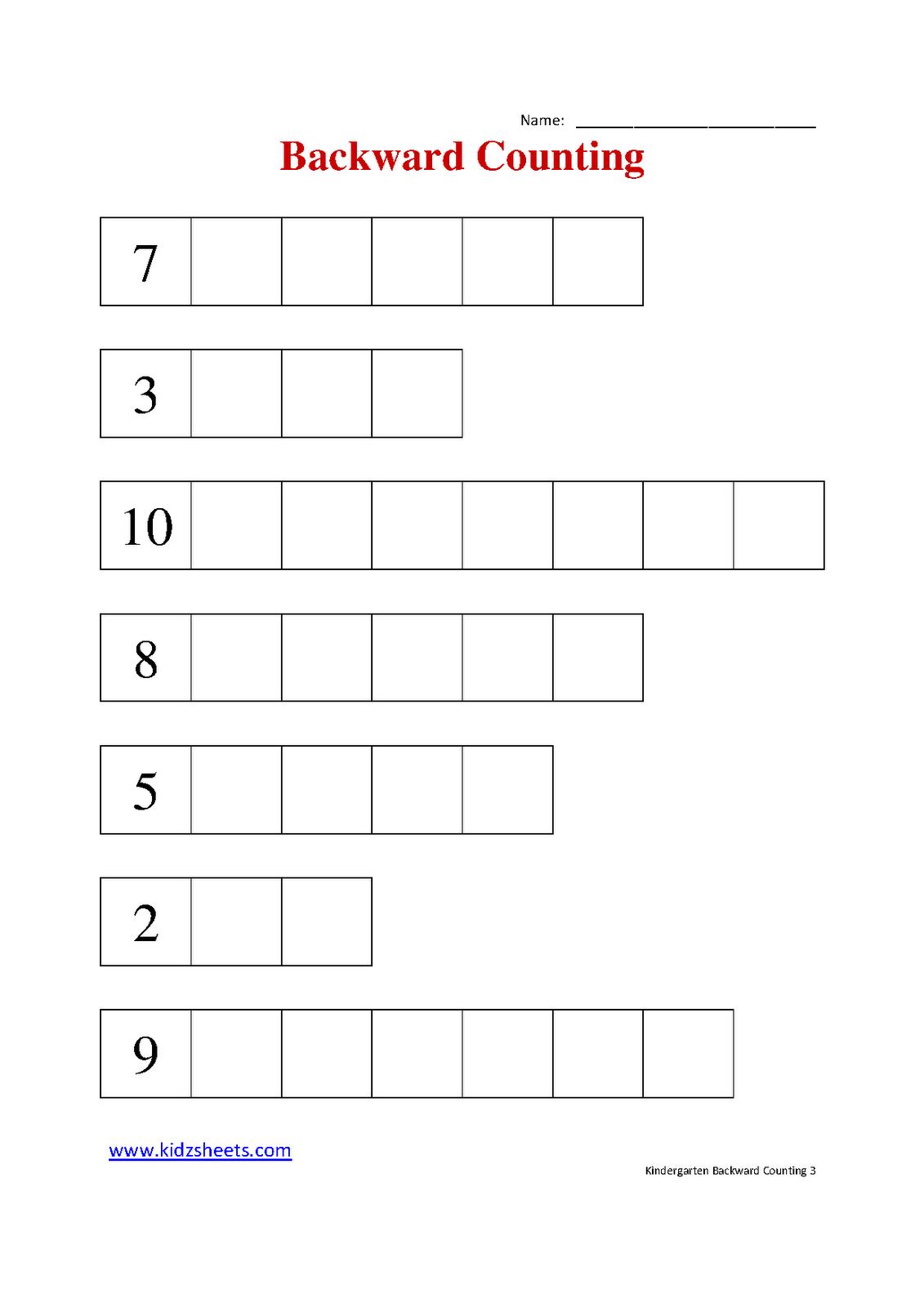 Kindergarten Counting To 25 7