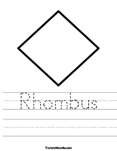 Kindergarten Rhombus Worksheet Printable  Kindergarten  Best Free