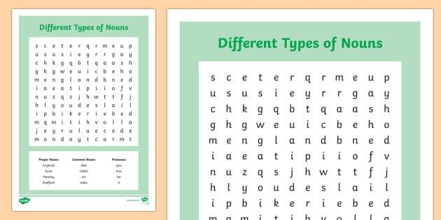 Kinds Of Nouns Worksheet Worksheets For All