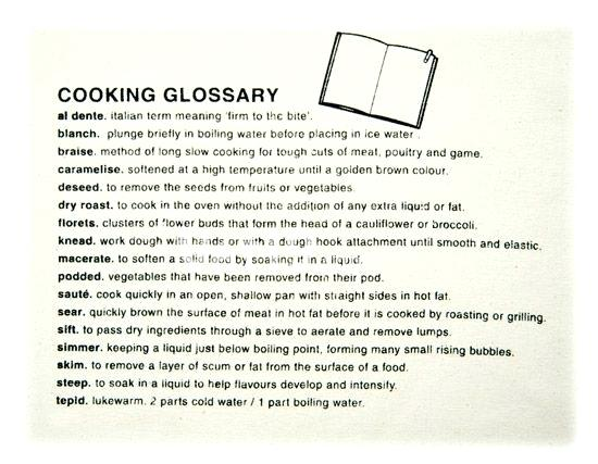 Kitchen Terms Cooking Terminology Google Search Cooking Terms
