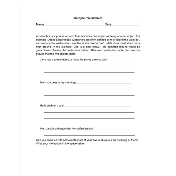 Language Arts Worksheets For Middle School Free Worksheets Library