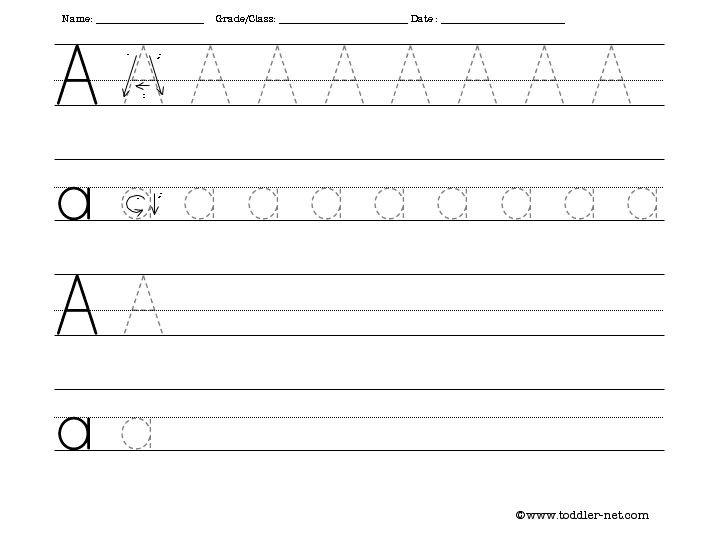 Letter A Handwriting Worksheet Worksheets For All