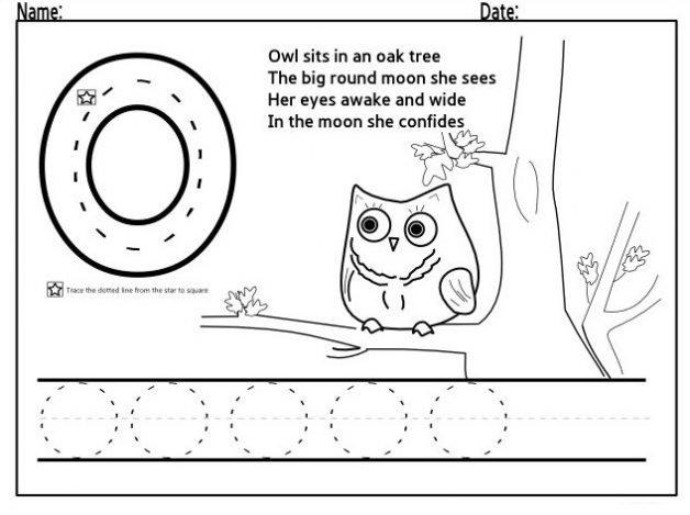 Letter O Worksheets For Kindergarten