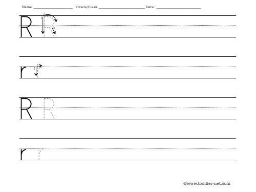 Letter R Worksheets Worksheets For All