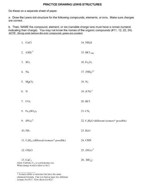 Lewis Dot Diagram Worksheet Free Worksheets Library