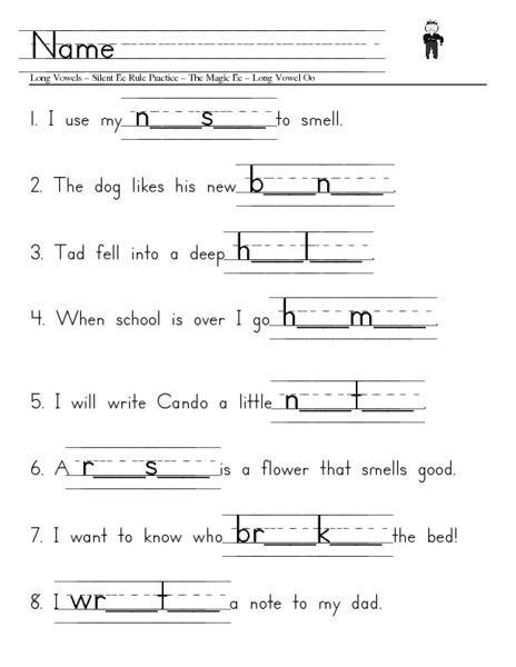Long Vowel Silent E Worksheets Worksheets For All