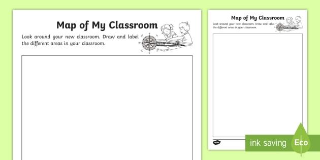 Map Of My Classroom Worksheet   Activity Sheet